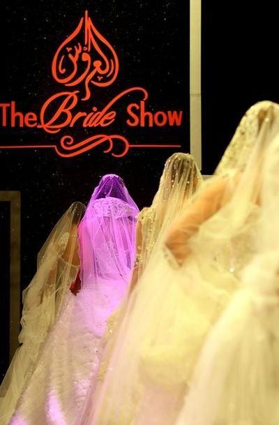 Показ свадебной коллекции в Дубаи. Фото: АFP