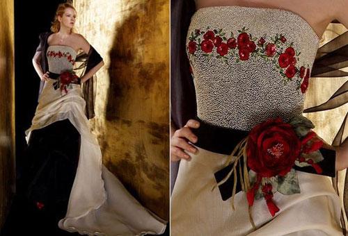 Коллекция свадебных платьев с цветами fabio gritti. Фото с efu.com.cn