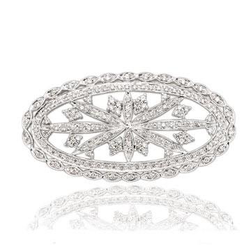 Великолепные брошки с алмазами. Фото с efu.com.cn