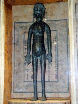 Акупунктурные точки на бронзовой статуе времен династии Цин. Фото: Великая Эпоха