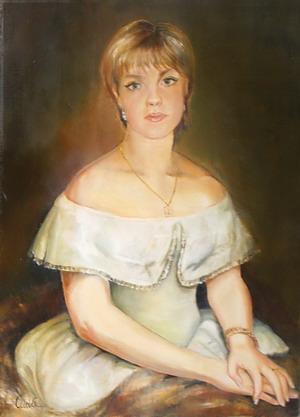 Дама в старинном платье. Автор Аида Лисенкова-Ханемаер