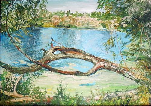 Заросший пруд. Автор Аида Лисенкова-Ханемаер