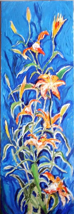 Тигровые лилии. Автор Аида Лисенкова-Ханемаер