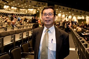 Чень Юшень, Глава отдела прессы экономического и культурного представительства  Тайбэя на концерте «Китайская феерия»  в Берлине в пятницу 14 марта 2008. Фото: Цзи Сень/Великая Эпоха