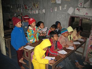 Дети в библиотеке INFO в Джанкаули, Читван. Фото Даррелла Халима