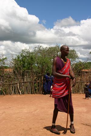 Житель деревни масаев. Фото: Д-р Гриффорд- Джонс