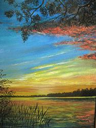 Багряный закат. Автор В.М. Степанов. Фото К. Корниясовой