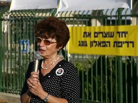 Элеонора Шифрин на митинге
