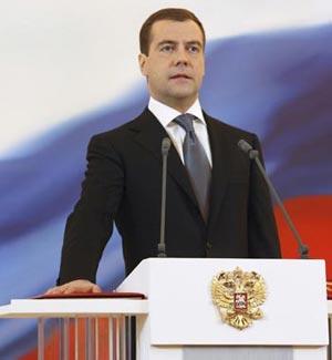 Президент России Дмитрий Медведев. Фото: VLADIMIR RODIONOV/AFP