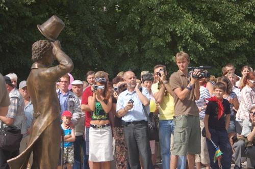 Открытие памятника Георгию Вицину. Фото: Ирина Оширова/Великая Эпоха