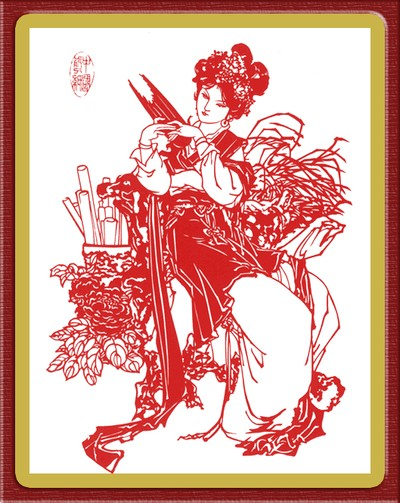 Искусство «цзянчжи». Картины, вырезанные из бумаги. Фото с secretchina.com