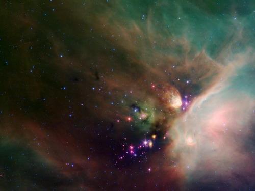 Бесконечная Красота. Новорожденные звезды смотрят на нас из звездной пыли в этом динамическом изображении Звездной системы Ophiuchi в виде темного облака от Космического телескопа НАСА Spitzer. Это - одна из самых близких формирующих звезду областей к нашей солнечной системе. Расположенный около созвездий Scorpius и Ophiuchus, - приблизительно 407 световых лет от Земли. Фото: С сайта nasa.gov