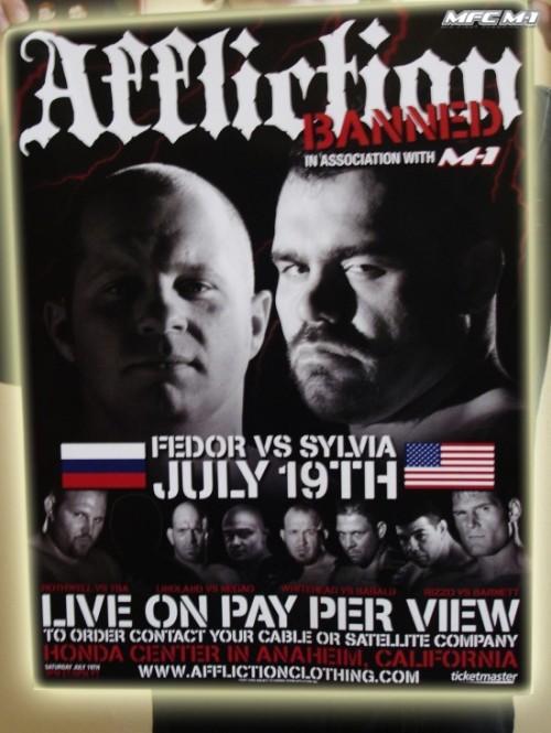 Рекламный баннер супертурнира AFFLICTION. Фото: mixfight.ru