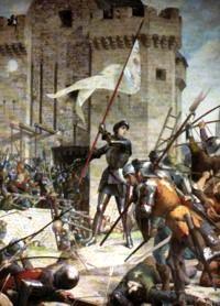 Жанна д'Арк при осаде Орлеана. Ш. Ленепвё