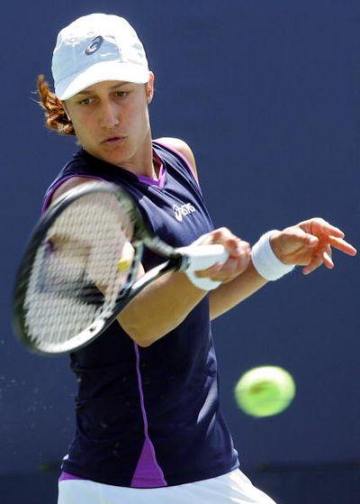 Во время соревнования по теннису. Фото: Getty Images