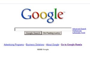 Главная страница Google. Фото с сайта Lenta.ru