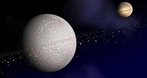 Спутник Сатурна обзавелся кольцами. Фото: NASA /JPL /JHUAPL