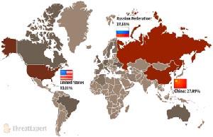Россия вышла на первое место по объемам производства вирусов. Фото с сайта Cybersecurity.ru
