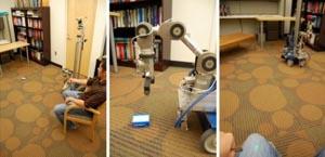 Роботом теперь можно управлять при помощи указки. Фото с сайта hsi.gatech.edu