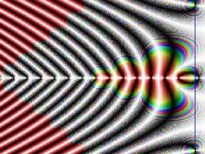 Область определения дзета-функции Римана (цвет зависит от значения, принимаемого функцией в соответствующей точке). Изображение с сайта member.melbpc.org.au