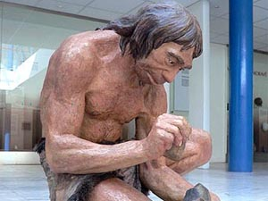 Гипсовая модель древнего человека. Фото с сайта jelinek-art.cz