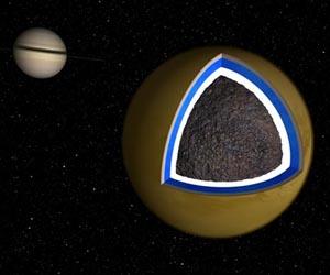 На Титане существует океан из воды и аммиака. Фото: NASA/JPL