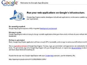 Скриншот главной страницы Google App Engine