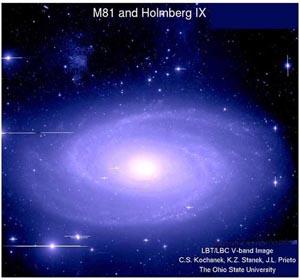 Уникальная звездная система – прародитель сверхновой. Фото: Университет штата Огайо