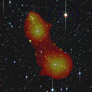 Астрономы обнаружили скрытое вещество. Фото: ESA/ XMM-Newton/ EPIC/ ESO (J. Dietrich)/ SRON (N. Werner)/ MPE (A. Finoguenov)
