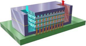 В IBM предлагают охлаждать многослойные чипы водой. Изображение с сайта IBM