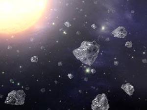 Алмазы в космосе: взгляд художника. Изображение NASA/JPL-Caltech