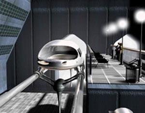 Один из вариантов станции новой транспортной системы. Иллюстрация Interstate Traveler