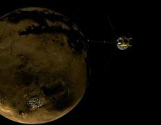 Следующую радарную съемку Титана Cassini проведет 22 февраля 2008 года. Иллюстрация NASA/JPL