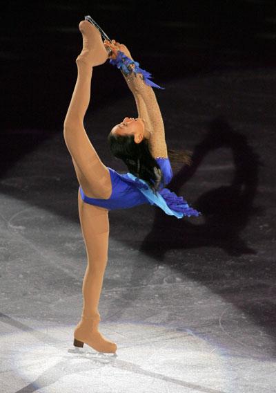 Показательное выступление на Турнире четырех континентов -2008 в Гояне (Южная Корея). Фото: CHOI WON-SUK/AFP/Getty Images