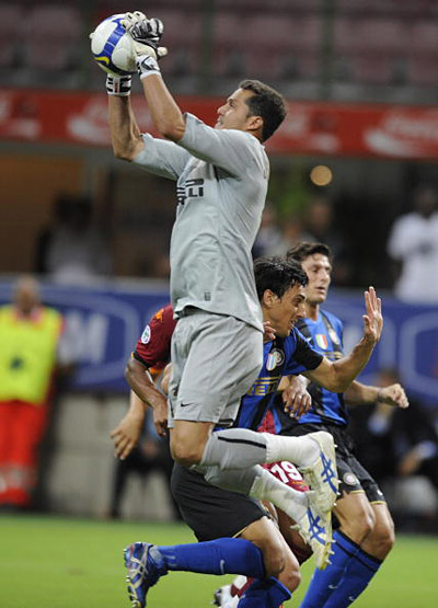 Матч за Суперкубок Италии между «Интернационале» и «Ромой». Сан Сиро, Милан. 24 августа 2008 г. Фото: DAMIEN MEYER /AFP /Getty Images