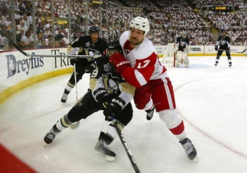 В Питтсбурге прошёл третий матч финальной серии. Фото: Bruce Bennett/Getty Images