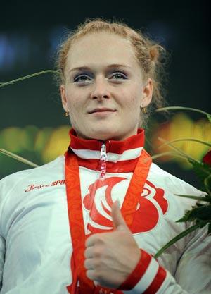 Оксана Сливенко - серебряный призер Олимпиады по тяжелой атлетике. Фото: Phil Walter/Getty Images