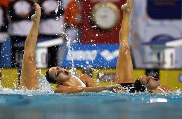 На чемпионате Европы в Эйндховене в понедельник завершились соревнования по синхронному плаванию. Фото: John Thys/AFP/Getty Images