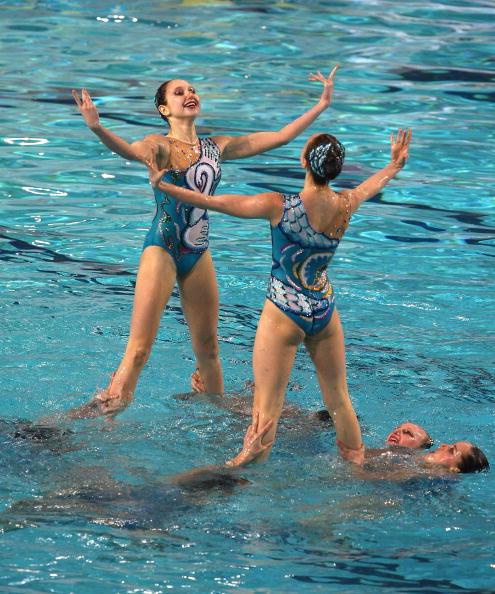 На чемпионате Европы в Эйндховене в понедельник завершились соревнования по синхронному плаванию. Фото: Hamish Blair/Getty Images