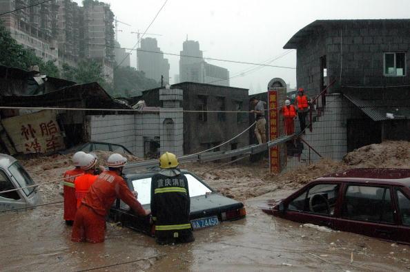 Наводнение в городе Чунцин. Фото: Getty Images