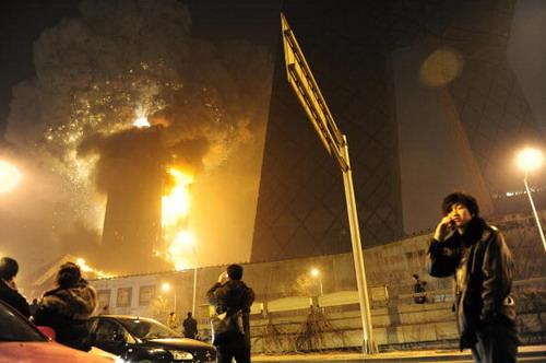Сильный пожар в считанные часы уничтожил высотный пятизвездочный отель