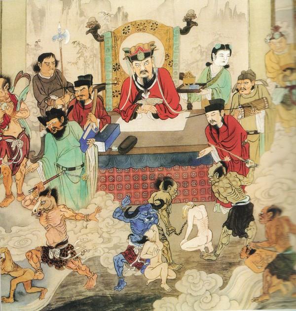 Чу Цзянь, владыка 2-го уровня Ада. Туда попадают те, кто совершил грех убийства. Их многократно убивают таким же способом, каким убивали и они.