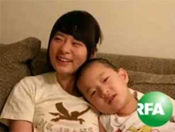 Дочь и сын Гао Чжишена в США. Фото: RFA
