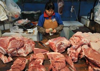 Свиная лавка на одном из рынков в Пекине. Фото с epochtimes.com
