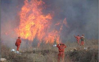 Пожар в провинции Шаньси. Фото с epochtimes.com