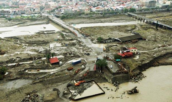 Через неделю после тайфуна. Фото: PETER PARKS/AFP/Getty Images