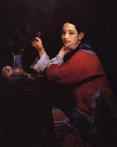 Картина Вана Минюе «Красная роза»