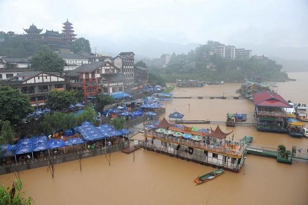 В городе Чунцин прошёл самый сильный дождь за 50-т лет. Фото с epochtimes.com