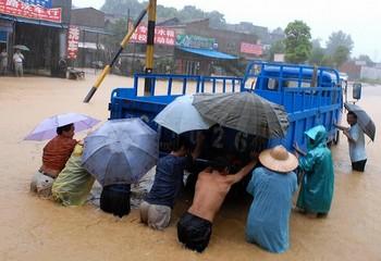 Наводнение в провинции Цзянси. 29 июля 2009 год. Фото: AFP/Getty Images