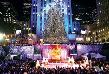 Рождественская елка на Манхэттене в Нью-Ньюрке. Фото: Дай Бин